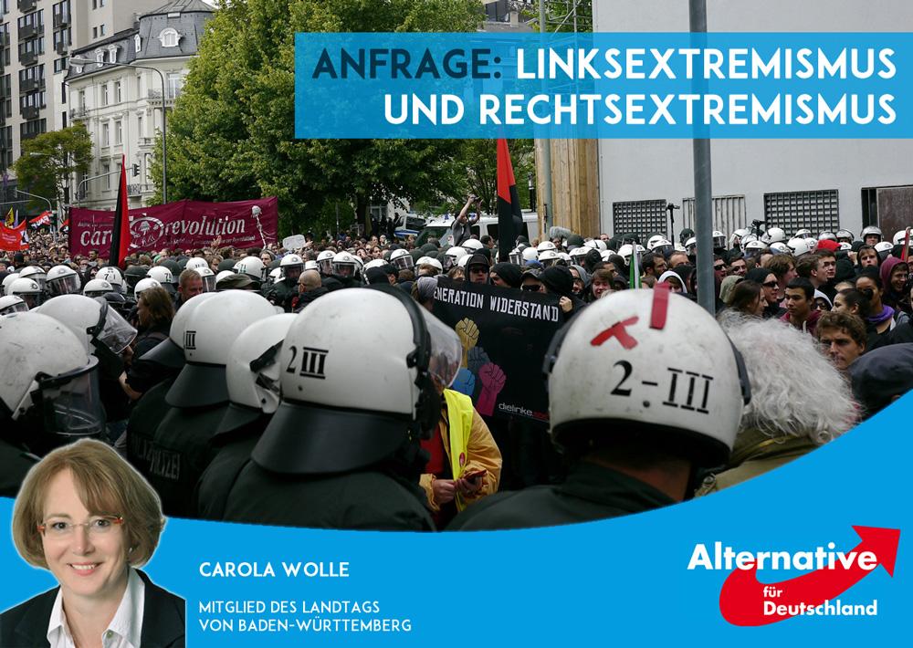 Anfrage: Maßnahmen gegen den Links- und Rechtsextremismus