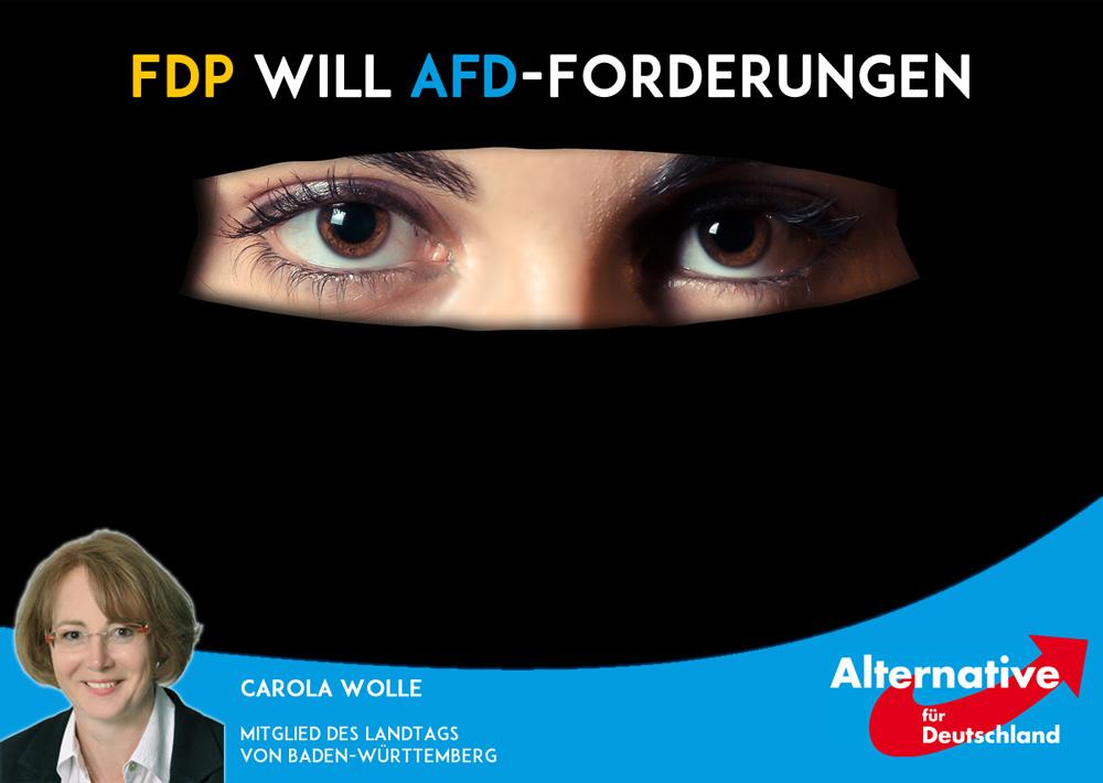 FDP übernimmt AfD-Forderung zur Vollverschleierung