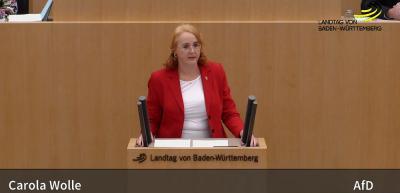 Carola Wolle im Landtag