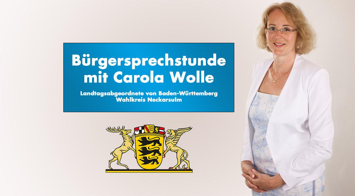 Bürgersprechstunde von Carola Wolle