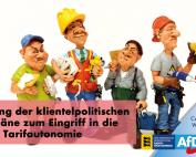 Ablehnung der klientelpolitischen SPD-Pläne zum Eingriff in die Tarifautonomie