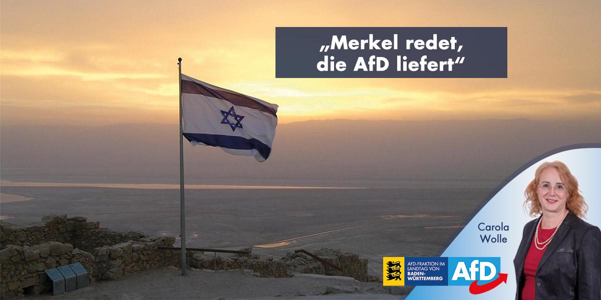 """Israel-Politik: """"Merkel redet, die AfD liefert"""""""
