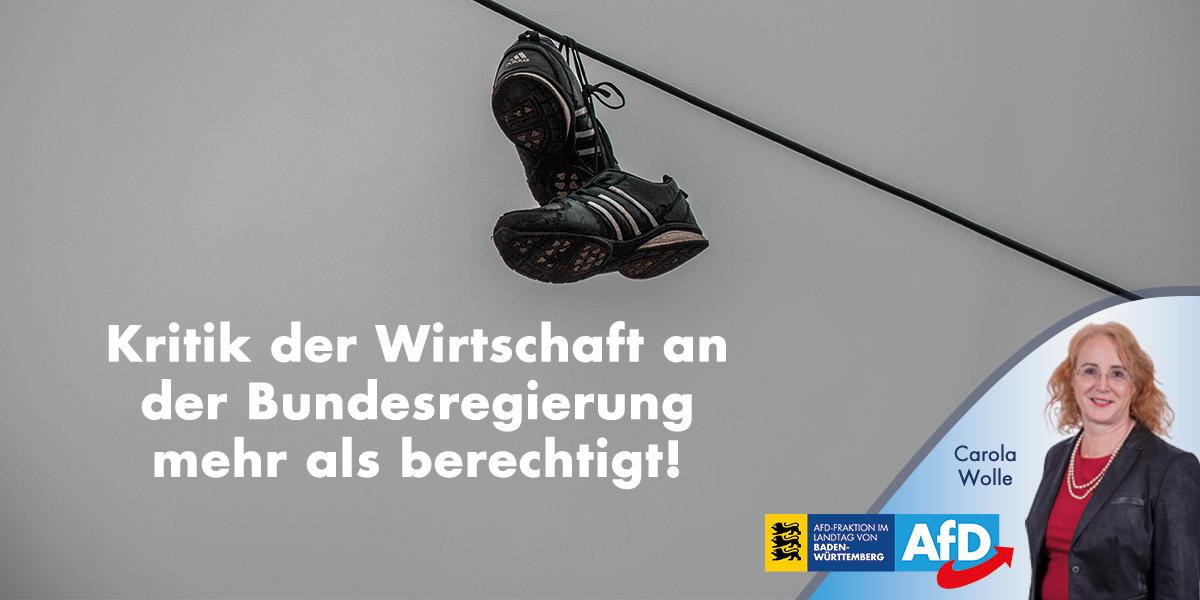 Kritik der deutschen Wirtschaft an der Bundesregierung mehr als berechtigt