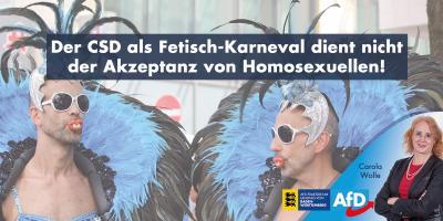 Der CSD als Fetisch-Karneval dient nicht der Akzeptanz von Homosexuellen!