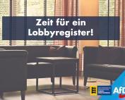 AfD unterstützt die Forderung nach einem Lobbyregister