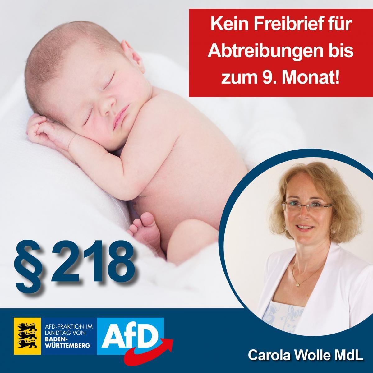 Grüne wollen § 218 abschaffen und Abtreibung bis zum 9. Monat legalisieren!