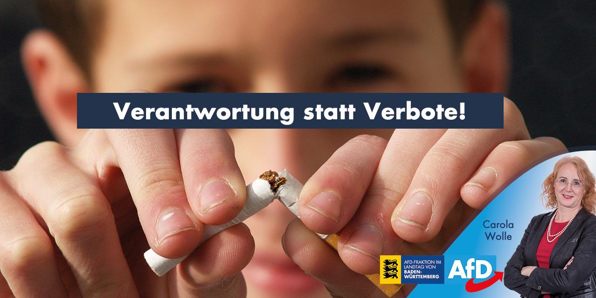 Respekt vor der Verantwortung der Eltern: kein Rauchverbot im Auto