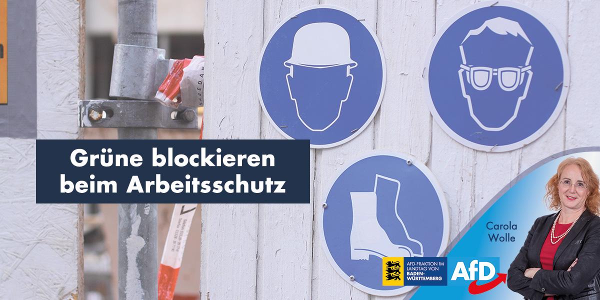 Grüne blockieren beim Arbeitsschutz