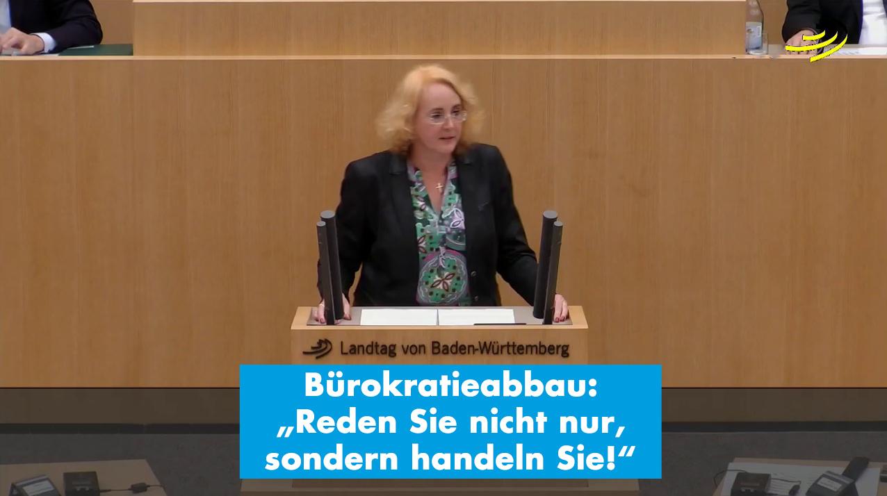 """Carola Wolle zum Bürokratieabbau: """"Reden Sie nicht nur, sondern handeln Sie!"""""""