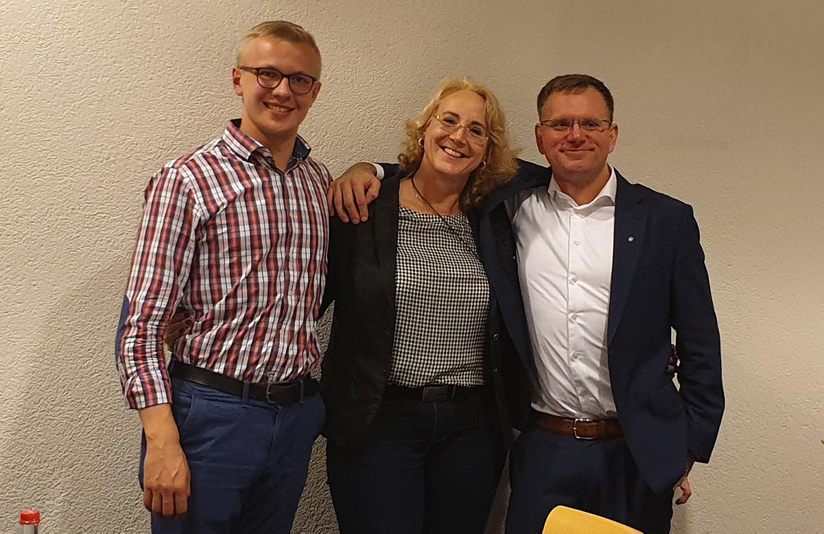 Dennis Seitz, Carola Wolle (MdL), Dr. Dirk Spaniel (MdB)