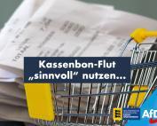 "Kassenbon-Flut ""sinnvoll"" nutzen..."
