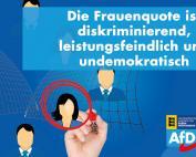 Carola Wolle: CDU knickt vor Zeitgeist ein und beschließt die Einführung einer Frauenquote