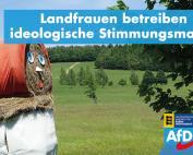 Carola Wolle MdL: Landfrauen betreiben ideologische Stimmungsmache