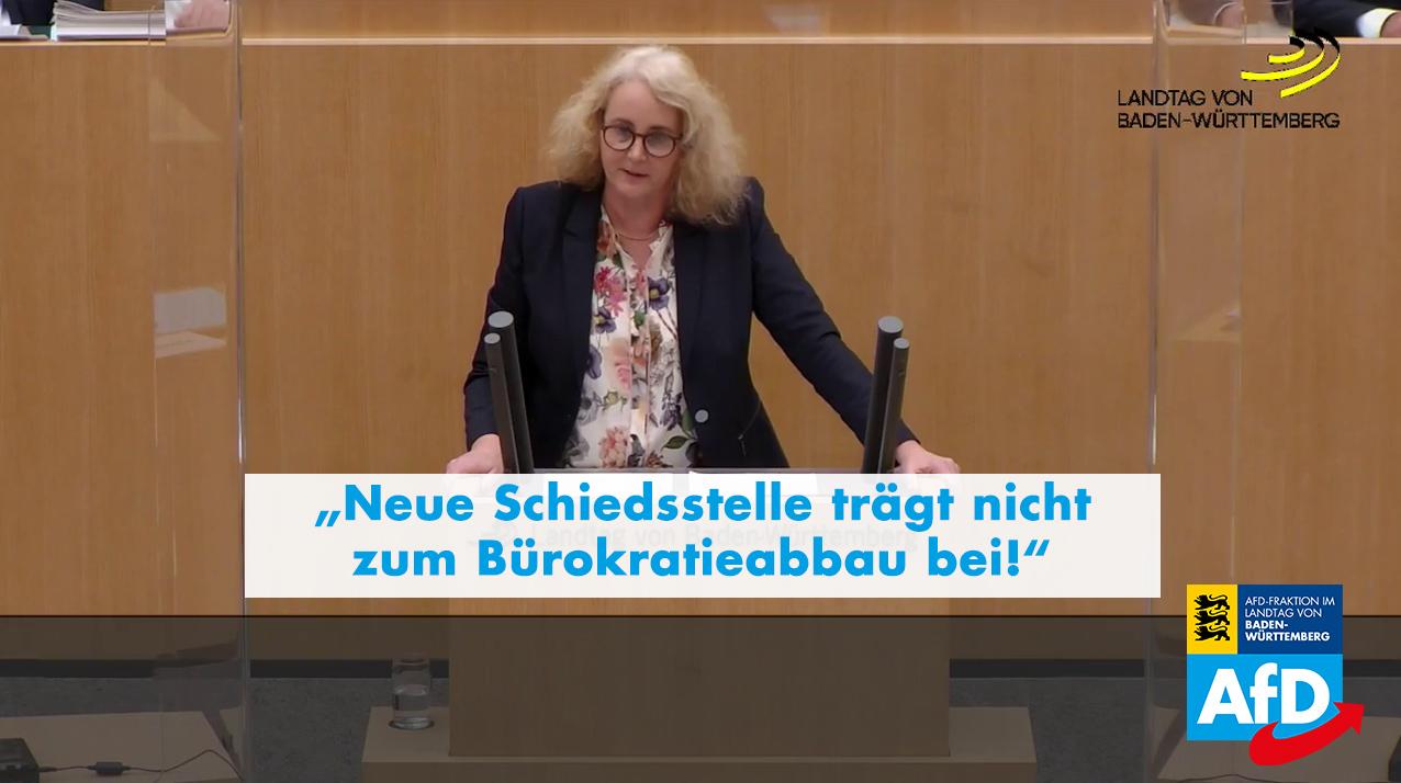 Plenarrede Carola Wolle: Neue Schiedsstelle trägt nicht zum Bürokratieabbau bei!