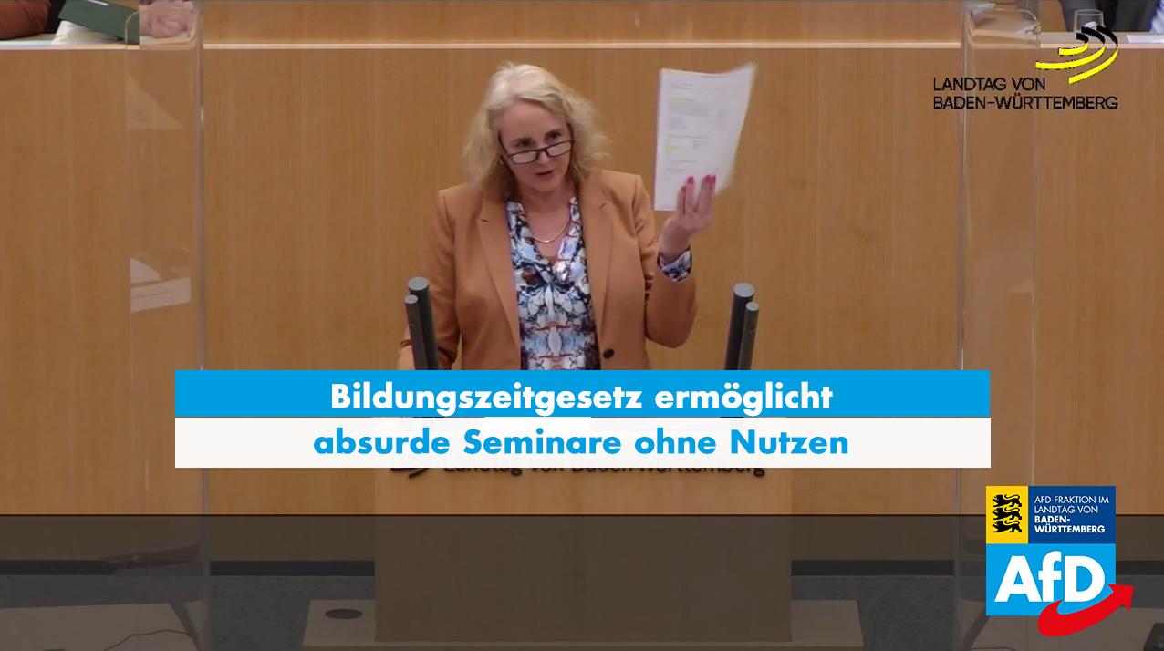 Plenarrede von Carola Wolle zur Änderung des Bildungszeitgesetzes