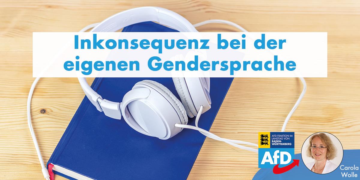 Carola Wolle: Ronin-Verlag gendert inkonsequent
