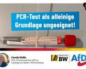Carola Wolle: PCR-Test als alleinige Grundlage ungeeignet