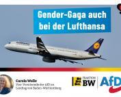 Carola Wolle: Gender-Gaga auch bei der Lufthansa