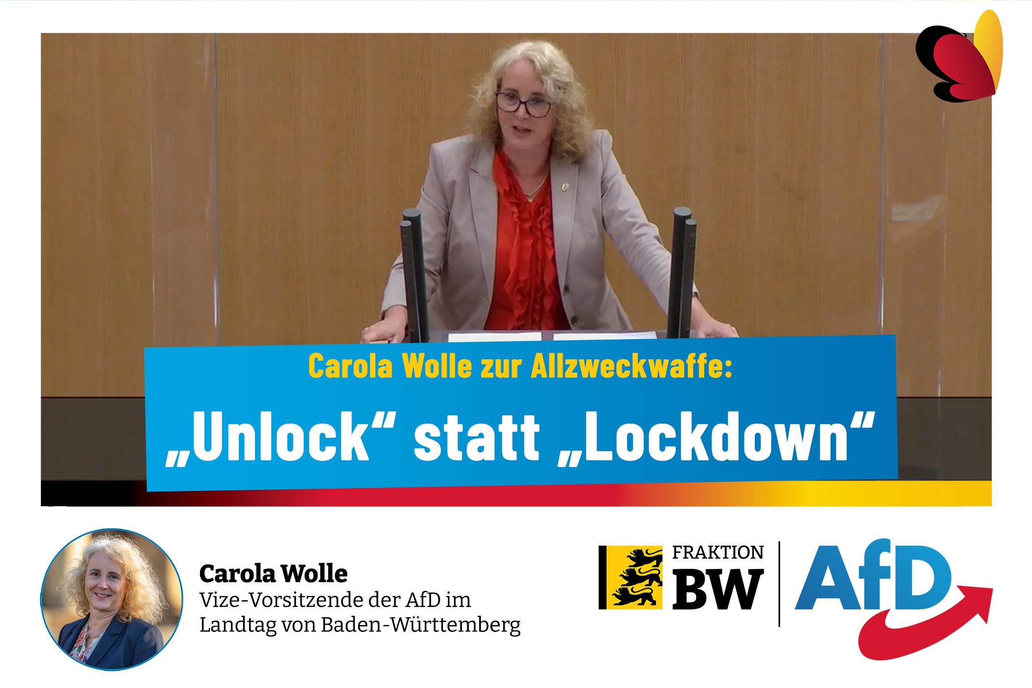 "Carola Wolle: ""Unlock"" statt ""Lockdown"""