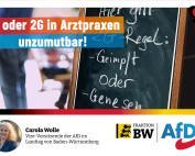 Carola Wolle: 3G in Arztpraxen unzumutbar und patientenfeindlich
